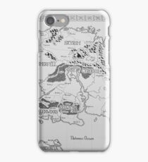 Elder Scrolls map in ink iPhone Case/Skin