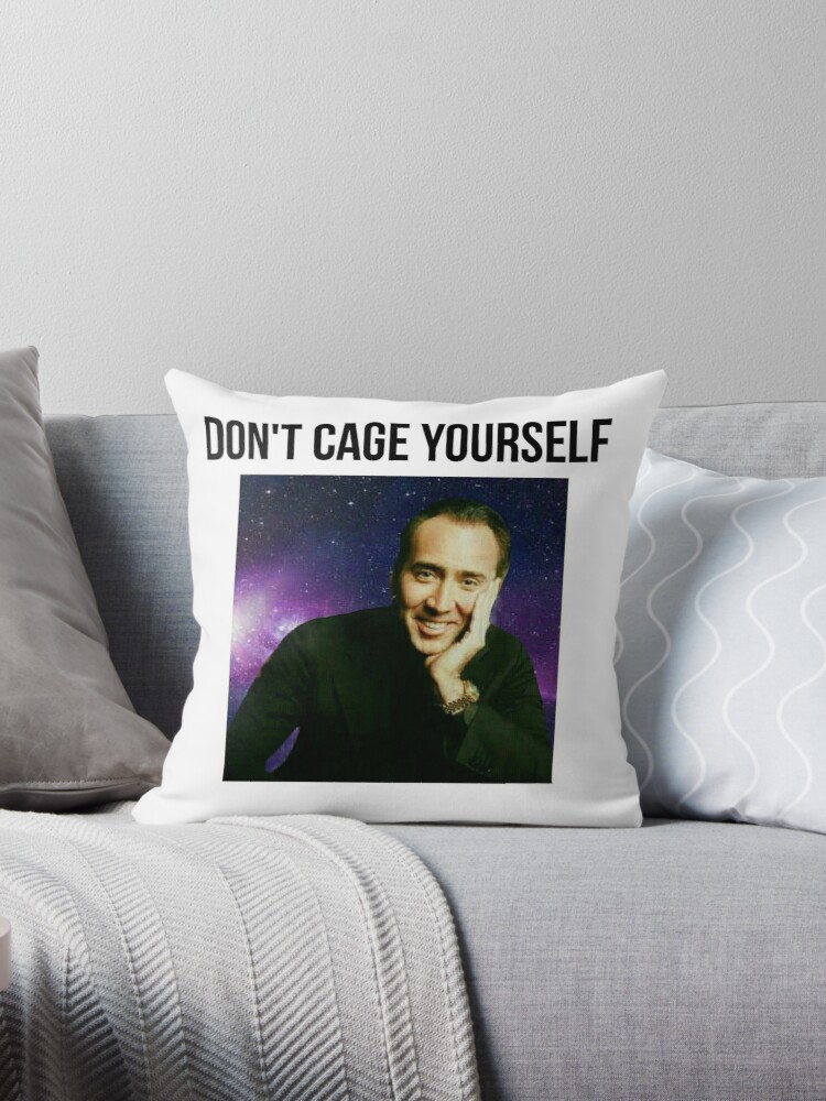 """Nicolas Cage Immortality"" Throw Pillows By Zoeyannakis"