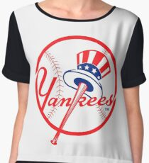 NY Yankees Chiffon Top