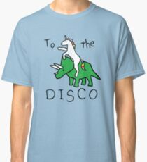 Zur Disco (Unicorn Riding Triceratops) Classic T-Shirt