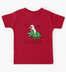 To The Disco (Unicorn Riding Triceratops) Kids Tee