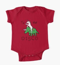 To The Disco (Unicorn Riding Triceratops) Kids Clothes