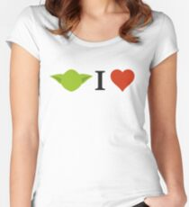 Yoda I Love Women's Fitted Scoop T-Shirt