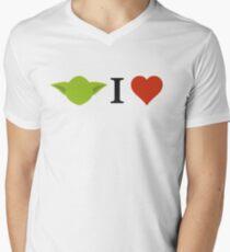 Yoda I Love Men's V-Neck T-Shirt