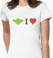 Yoda I Love Women's Fitted T-Shirt