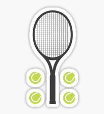 Tennisschläger und Tennisbälle Aufkleber Sticker