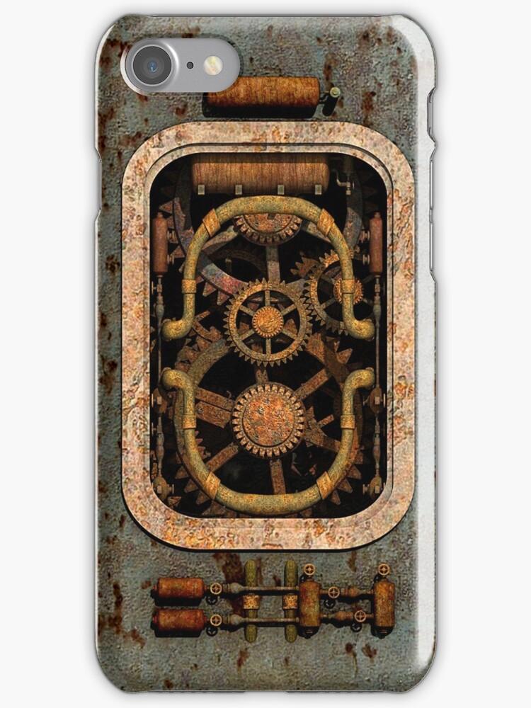 Infernal Steampunk Machine #1 phone cases by Steve Crompton