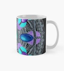 White on Black Gemstones Mandala Mug