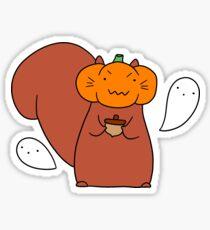 Ghost Pumpkin Squirrel Sticker