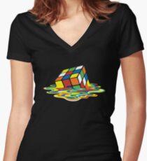 Sheldon's Rubik Women's Fitted V-Neck T-Shirt