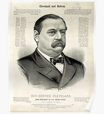 Gov. Grover Cleveland, 22nd President of the United States - 1885 Poster