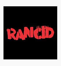 Rancid Logo Photographic Print