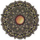 Golden Gemstone Mandala by WelshPixie