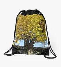 Golden Leaves Drawstring Bag