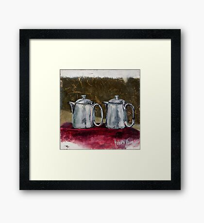 Two Milk Jugs Framed Print