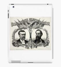 Grand national Democratic banner 1880 - 1880 iPad Case/Skin