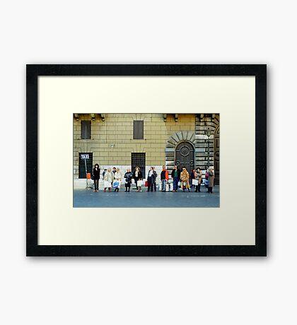 Taxi Queue - Rome Framed Print