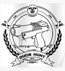 Duck Hunt - Black - Poster