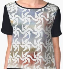 Hand painted watercolour paper textures. Women's Chiffon Top