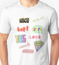 Snapchat Stickers T-Shirt