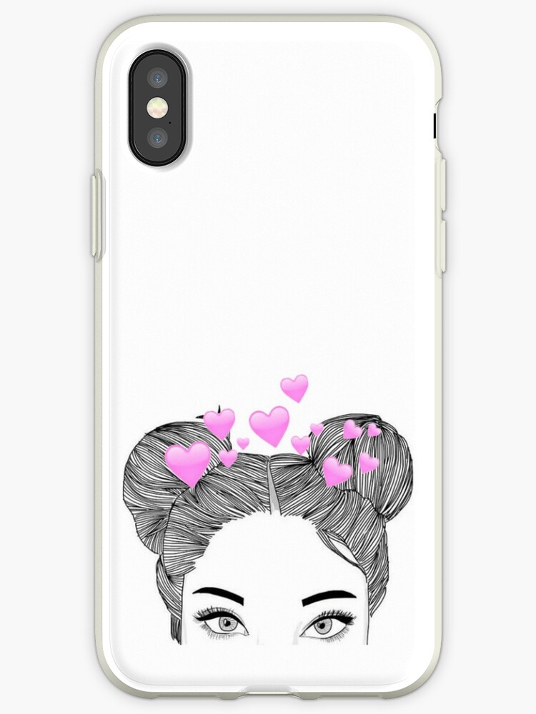 check out b49fc de0aa 'Tumblr Heart Girl | iPhone Case' iPhone Case by dieuw