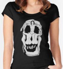 Salvador Dalí's Skulls - BLACK Women's Fitted Scoop T-Shirt