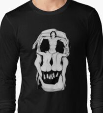 Salvador Dalí's Skulls - BLACK Long Sleeve T-Shirt
