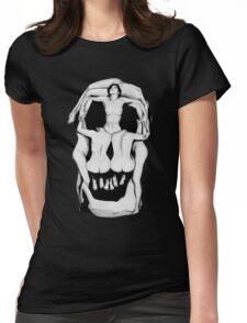 Salvador Dalí's Skulls - BLACK Womens Fitted T-Shirt
