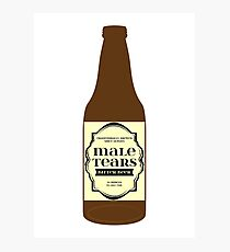 Male Tears Bitter Beer - Bottle Photographic Print