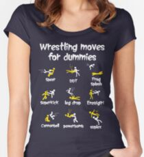 wrestling moves for dummies Women's Fitted Scoop T-Shirt