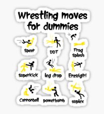 wrestling moves for dummies Sticker