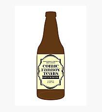 Comic Fanboy Tears Bitter Beer - Bottle Photographic Print