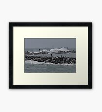 Rough Seas to Block Island Framed Print