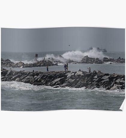 Rough Seas to Block Island Poster