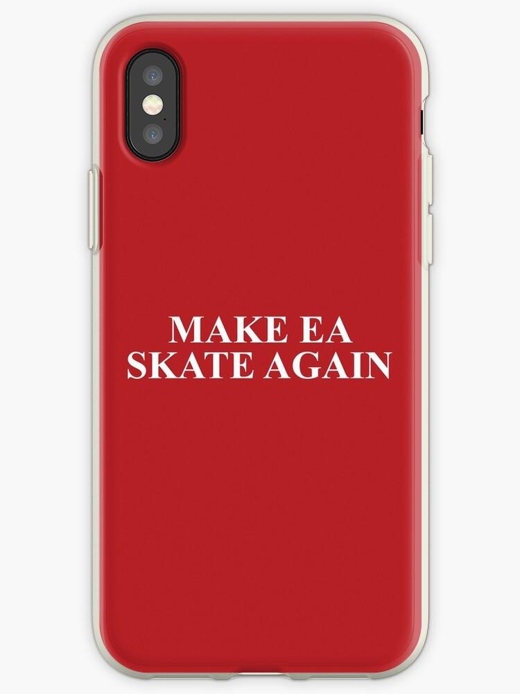'Make EA Skate Again – Skate 4, Reddit' iPhone Case by fandemonium