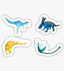 Dinosaur Stickers - Set of 4 Sticker