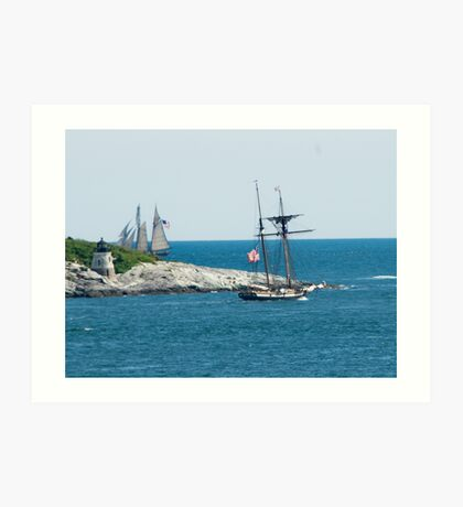 Around the Point and Out to Sea Art Print