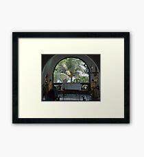 Altar amid Palms Framed Print