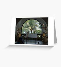 Altar amid Palms Greeting Card