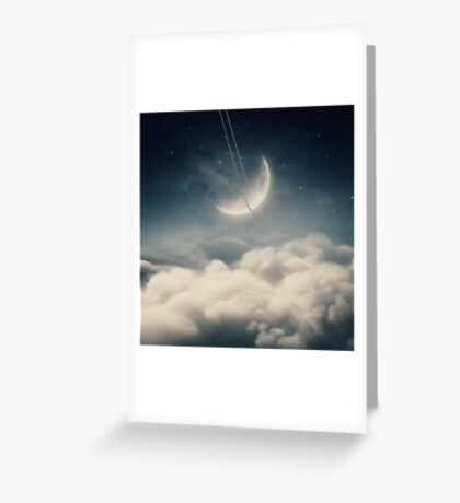 The swinging moon Greeting Card