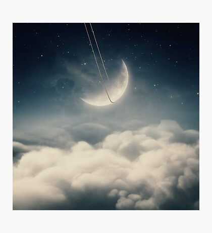 The swinging moon Photographic Print