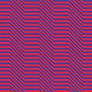 Zigged And Zagged, Red And Indigo by pocketsoup