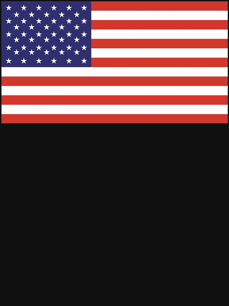 American Flag, on BLACK, Stars & Stripes, Pure & Simple, America, USA,  by TOMSREDBUBBLE