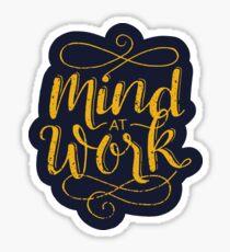 Geist bei der Arbeit Sticker