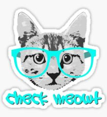 Check Meowt - Funny Saying Sticker