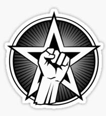 Raised Fist and Star Sticker
