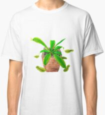 tropical pitcher plant watercolor painting Classic T-Shirt