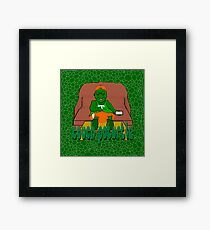 Couch PoTurtle (shell pattern) Framed Print