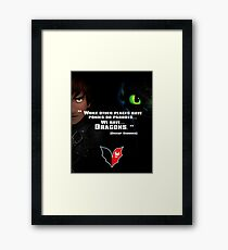 How to train you Dragon Framed Print