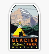 Glacier National Park Vintage Decal USA Sticker